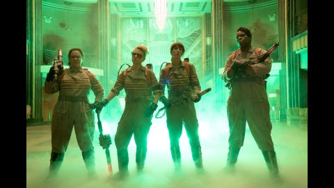 """By now, everyone knows the twist to the new """"Ghostbusters"""": The foursome are female. Melissa McCarthy, Kate McKinnon, Kristen Wiig and Leslie Jones star as the specter fighters. It opens July 15."""
