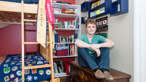 Amanda Lipp in her childhood room in Fair Oaks, California, in December 2015.