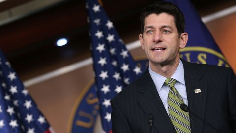 WASHINGTON, DC - MARCH 17:  Speaker of the House Paul Ryan (R-WI) speaks to the media during his weekly briefing, at the U.S. Capitol, March 17, 2016 in Washington, DC.  (Photo by Mark Wilson/Getty Images)