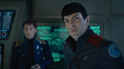 """The latest film in the """"Star Trek"""" series, """"Star Trek Beyond,"""" may have Zachary Quinto's Spock and Karl Urban's McCoy <a href=""""http://www.cinemablend.com/new/Star-Trek-Beyond-Won-t-Traditional-Kirk-Spock-Adventure-79337.html"""" target=""""_blank"""" target=""""_blank"""">interacting with each other</a> more than with Chris Pine's Capt. Kirk. That sounds like fun, as does the fact that Simon """"Scotty"""" Pegg contributed to the script. The film opens July 22."""