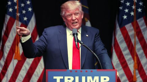 Republican presidential candidate Donald Trump speaks at a campaign rally at the Infinity Event Center on March 18, 2016 in Salt Lake City, Utah.