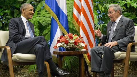 Obama meets with Castro in Havana on March 21.