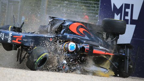 """It was the second serious incident Alonso has been involved in in as many years, although his crash at the 2016 was arguably worse. After colliding with Esteban Gutierrez, Alonso's car hit the wall at 200mph, flipping through the air before coming to rest upside down. """"I'm lucky to be here and thankful to be here,"""" Alonso said after the crash."""