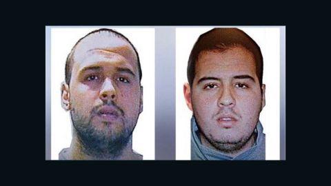 Brothers Khalid El Bakraoui, left, and Ibrahim El Bakraoui, right.