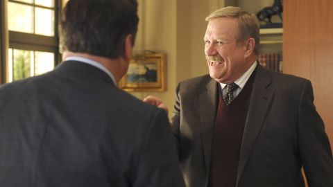 """<a href=""""http://www.cnn.com/2016/03/23/entertainment/ken-howard-dead-obit-feat/index.html"""" target=""""_blank"""">Ken Howard</a>, seen here as Hank Hooper on """"30 Rock,"""" died March 23. He was 71. Howard also starred in """"The White Shadow"""" and appeared in many other TV series."""