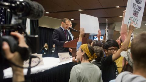 Protesters tried to stop the auction on Wednesday but were unable to do so. Nearly 700,000 acres of ocean were auctioned for fossil fuel development, earning the government $156 million.