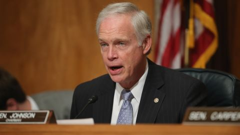 WASHINGTON, DC - JUNE 25:  Senate Homeland Security and Governmental Affairs Committee Chairman Ron Johnson (R-WI) delivers opening remarks during a hearing about the recent OPM data breach in the dirksen Senate Office Building on Capitol Hill June 25, 2015 in Washington, DC. Office of Personnel Management Director Kathrine Archuleta said that the recent report that 18 million current, former government employees and people who applied for jobs had their personal data stolen is not confirmed and that only 4.2 million records had been breached.  (Photo by Chip Somodevilla/Getty Images)