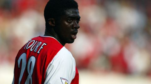 """The Ivorian defender transferred to Arsenal in 2002, and was a member of the 2003 to 2004 """"Invincibles"""" team that went the Premier League season unbeaten."""