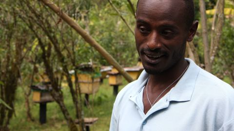 """""""I would never move to the city and leave this behind,"""" says local beekeeper Mirutse Habtemariam."""