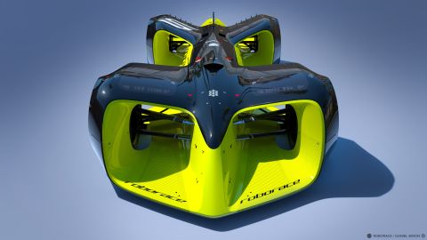 """The planned """"Roborace"""" series is scheduled to be contested during <a href=""""http://www.fiaformulae.com/en"""" target=""""_blank"""" target=""""_blank"""">Formula E</a> championship weekends. Organizers have commissioned Daniel Simon -- famous for his work on movies like """"Tron: Legacy"""" -- to design the race car."""