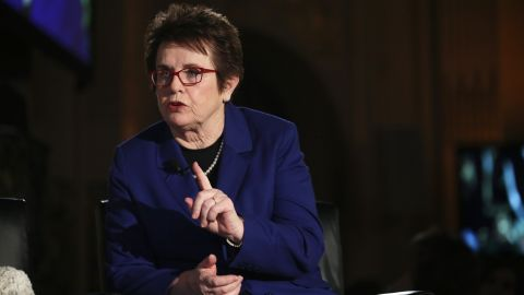 NEW YORK, NY - NOVEMBER 17:  39-Time Grand Slam winning tennis player Billie Jean King speaks during The 4th Annual Elly Awards Luncheon on November 17, 2014 in New York City.  (Photo by Jemal Countess/Getty Images for The 4th Annual Elly Awards)