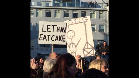 """Angry demonstrators said they felt betrayed by the prime minister. Gunnlaugsson told Iceland's TV2 Monday that he won't step down. """"I have not considered resigning, nor am I going to resign, because of this matter,"""" he said."""