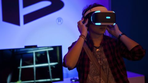 """Sony Computer Entertainment has developed a<a href=""""http://money.cnn.com/2016/03/16/technology/sony-playstation-vr-headset/""""> VR headset</a> for its PlayStation 4 video game console. It will be released in October 2016."""