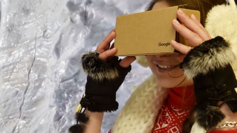 """The cheapest VR option of them all is the humble Google Cardboard. Several models are <a href=""""https://www.google.com/get/cardboard/get-cardboard/"""" target=""""_blank"""" target=""""_blank"""">available</a> online for as little as $15, and they work with almost any smartphone."""