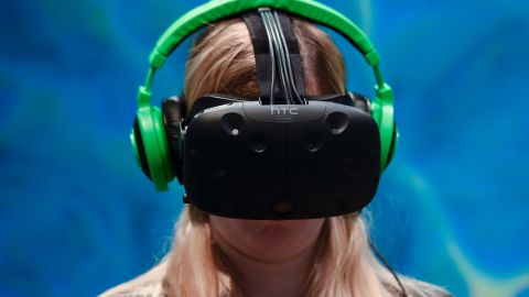 """The<a href=""""https://www.htcvive.com/uk/"""" target=""""_blank"""" target=""""_blank""""> HTC Vive</a>, which begins shipping in May 2016, is the most expensive of all VR headsets, at $799. It includes a set of VR controllers, though, which other models don't offer as standard. It is supported by the digital distribution platform Steam."""