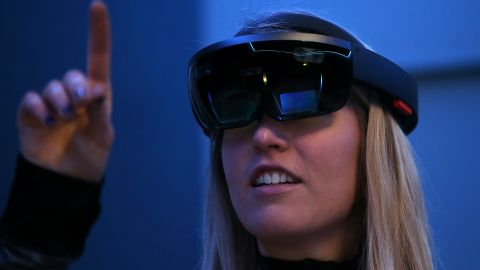"""The impressive <a href=""""http://money.cnn.com/2015/01/22/technology/microsoft-hands-on-hololens/"""">Microsoft Hololens</a> headset has just begun shipping to developers for $3,000 a piece. Price and release date for a consumer version have not been set."""