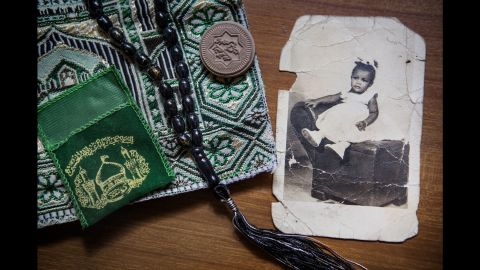 A child photo of Elsa Morales, a Cuban who converted to Islam two years ago and changed her name to Fatima.
