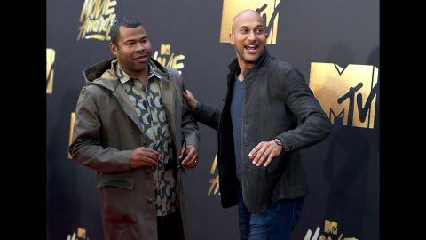 Keegan-Michael Key, left, and Jordan Peele