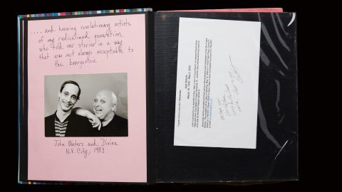 """Bivins' scrapbook captures the heartbreaking loss of friends to AIDS, including fellow founders of Black and White Men Together. It also highlights the power that came from supportive artists in the community, such as filmmaker John Waters and performer Divine, who Bivins called """"revolutionary artists of my radicalized generation who told our stories in a way that was not always acceptable to the bourgeoisie."""""""