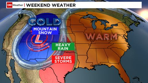 A weather pattern known as an omega block will affect weather throughout much of the nation this weekend.