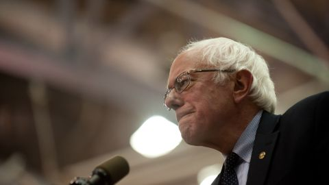 Democratic presidential candidate Bernie Sanders speaks at a rally at the Rec Hall at Penn State University on April 19, 2016 in University Park, Pennsylvania.