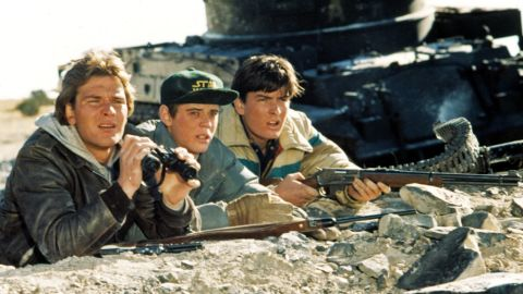 """Hollywood went to extremes with Cold War themes in the '80s. Imagine a Soviet invasion of an American small town. That was the idea behind 1984's """"Red Dawn,""""  starring Patrick Swayze, C. Thomas Howell and Charlie Sheen. Click through the gallery for more photos of '80s Cold War films."""