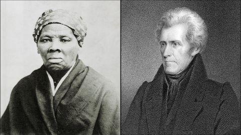 Harriet Tubman and Andrew Jackson