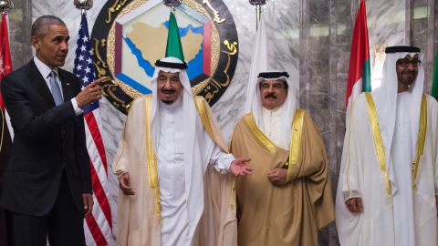 The United States and Saudi Arabia have been divided over a slew of issues, including the approach to the wars in Syria and Yemen, the Iranian nuclear deal and the influence Tehran wields in Iraq. Here, Obama appears with Saudi King Salman, Bahrain's King Hamad bin Isa Al Khalifa and Abu Dhabi Crown Prince Mohamed bin Zayed Al Nahyan during the Riyadh summit on April 21.
