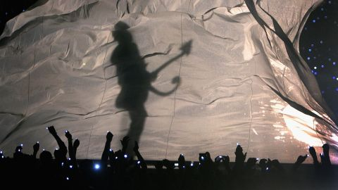 """He left his imprint on many aspects of popular culture, from film to movies to sports to politics. As the Minnesota Vikings prepped to take on the New Orleans Saints in the 2010 NFC championship game, Prince wrote a fight song entitled """"Purple and Gold"""" to inspire his home team. The Vikings lost. He was the half-time performer at the Super Bowl in 2007 in Miami Gardens, Florida, seen here."""