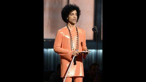 """Prince speaks at the 2015 Grammy Awards in Los Angeles. Additionally, last year, Prince released the song """"Baltimore,"""" addressing the unrest after the death of Freddie Gray while in police custody. He performed at a benefit concert in the city and gave a portion of the proceeds to youth groups in Baltimore."""