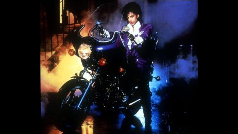 """""""Purple rain, purple rain"""" -- The color which he became known for was best represented in the 1984 film """"Purple Rain""""."""