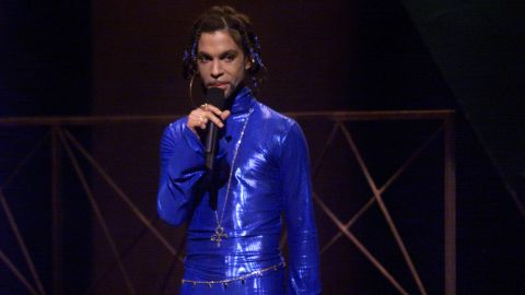 True blue -- Coordinating an outfit around one color was a Prince signature. Here he is in electric blue at the 1999 MTV Video Music Awards.<br />