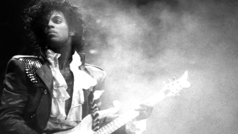 """Singer and songwriter Prince performs onstage during his Purple Rain Tour in 1984. The artist, who pioneered """"the Minneapolis sound"""" and took on the music industry in his fight for creative freedom, <a href=""""http://www.cnn.com/2016/04/21/entertainment/prince-estate-death/index.html"""" target=""""_blank"""">died</a> in April 2016 at age 57."""