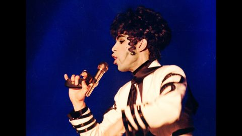 Prince performs at the Globe Arena in Stockholm in 1993.
