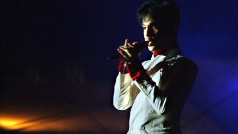 """Prince performs in Hong Kong on October 17, 2003. Prince's concert was the the opening act in a four-week government-sponsored music festival titled """"Hong Kong Harbor Fest,""""  aimed at boosting the image of SARS-battered Hong Kong."""