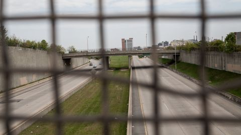 """Baltimore's U.S. Highway 40, known locally as the """"Highway to Nowhere,"""" cuts through West Baltimore. The expressway was never integrated into the interstate system. Its construction displaced hundreds of black families and strained relations between the black community and city government.<br />"""
