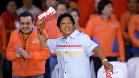 """This year's national election sees six candidates jockeying for the country's second highest office. The current frontrunner is Ferdinand """"Bongbong"""" Marcos Jr., son of the late former Philippines President Ferdinand Marcos who ruled the country for decades before being toppled by a people's uprising."""