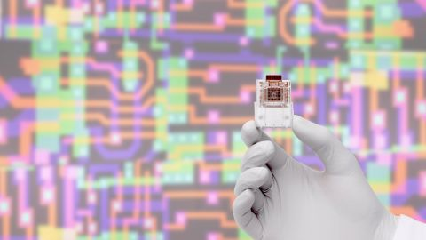 """Twitter chat guest Professor Chris Toumazou pioneered a wave of multidisciplinary study and discovery within electronics, biology, genetics and health care -- including his """"lab-on-a-chip,"""" pictured."""