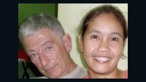 Robert Hall and his partner, Marites Flor.
