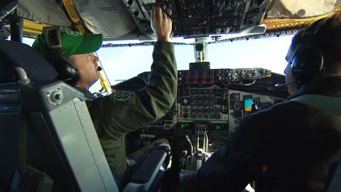CNN's Clarissa Ward is on board a U.S. Air Force KC-135 refueling Stratotanker, accompanying two U.S. F-22 Raptor fighter jets to Romania.