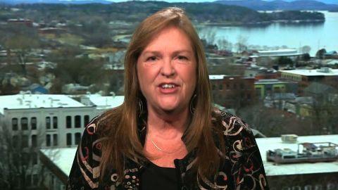 Jane Sanders talks to CNN's Wolf Blitzer