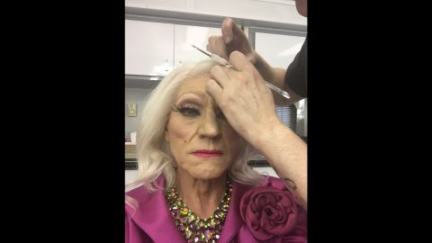 """""""Something is happening in Hollywood tonight,"""" <a href=""""https://twitter.com/SirPatStew/status/722251866793316353"""" target=""""_blank"""" target=""""_blank"""">tweeted actor Patrick Stewart</a> as he had makeup applied on Monday, April 18. He appeared in drag for a screening of his TV show """"Blunt Talk."""""""