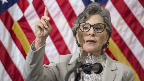 California Sen. Barbara Boxer