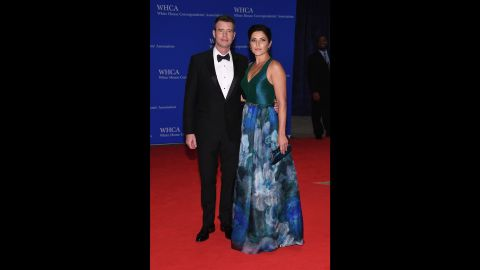 """Actors Scott Foley and Marika Dominczyk. The night is laced with humor and an address by the president. """"It's a good thing for Washington to take itself down a peg for a night,"""" said chief White House speechwriter Cody Keenan, who oversees the three-week-long process of putting the speech together. """"There's nobody in America who would say 'hey, these politicians are poking fun at each other too much.' Because there's so much to make fun of!"""""""