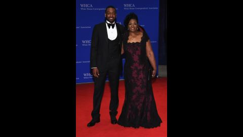 NBA player John Wall and his mother Frances Pulley.