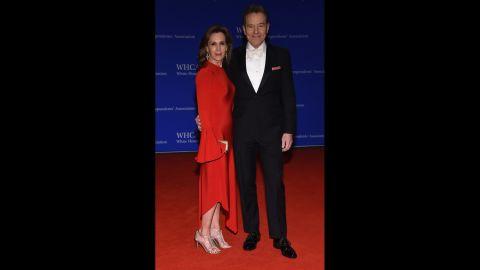 Actors Bryan Cranston and wife Robin Dearden.