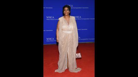 Singer Aretha Franklin.