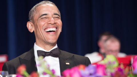 US President Barack Obama attends the 102nd White House Correspondents' Association Dinner in Washington, DC, on April 30, 2016. / AFP / NICHOLAS KAMM        (Photo credit should read NICHOLAS KAMM/AFP/Getty Images)