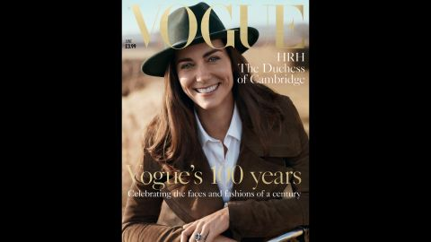 The Duchess of Cambridge poses in Norfolk, England, for British Vogue's centenary issue.
