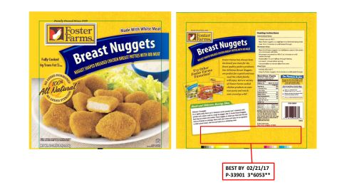 """<a href=""""http://www.cnn.com/2016/05/02/health/foster-farms-chicken-recall/index.html"""">Foster Farms is recalling more than 220,000 pounds of frozen chicken nuggets</a> after concerns they've been contaminated with plastic and rubber material. The products were sold in Alaska, Idaho, Montana, Oregon, Utah, Washington, California and Arizona."""
